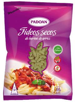 Mostacholes con Espinacas, paquetes por 500 grs.