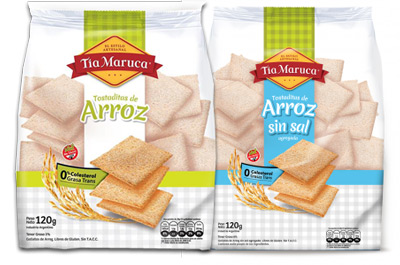Excelente sabor y presentación, ideales para todo momento. Con sal y sin sal en paquetes de 120gr. Libres de gluten.