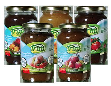 Las mermeladas Trini no contienen agregado de azúcar; el dulzor es aportado por la fruta misma y son a base de Stevia. Las frutas de excelente calidad son cuidadosamente seleccionadas para lograr productos sabrosos y saludables. Sabores Naranja, Frutillas, Durazno y Durazno + Frutilla