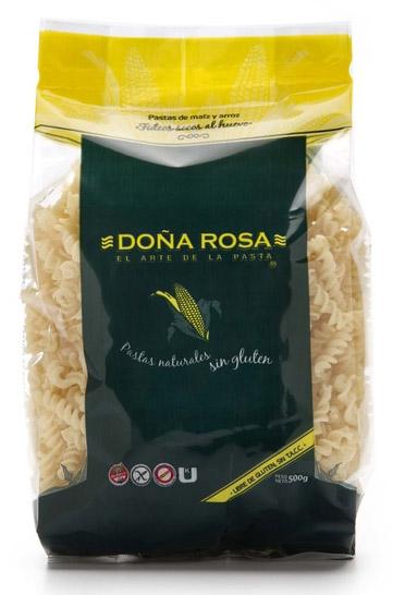 Deliciosos fusillis al huevo a base de arroz y maíz. Con la calidad y la tradición de Doña Rosa. Super rendidores.