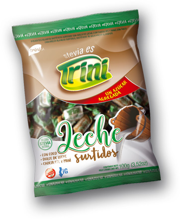 Nuevos!! tenés que probarlos! Son muy sabrosos!!  Cada bolsita de 100 grs., contiene aproximadamente unos 35 caramelos surtidos de deliciosos caramelos libres de gluten y sin azúcar.