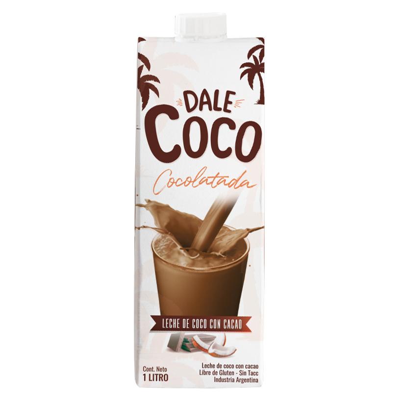 Nueva!! Deliciosa y nutritiva leche de coco con cacao Dale Coco, la Cocolatada.  Vegana, endulzada con azúcar mascabo, sin lactosa, sin conservantes, sin lactosa y libre de gluten.