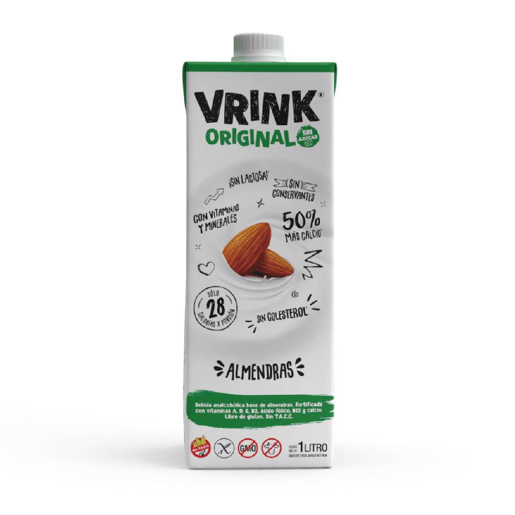Vrink no tiene lactosa ni colesterol. Ideal para quienes eligen alimentarse mejor y con muy bajas caloras. Libre de gluten. Sin TACC.