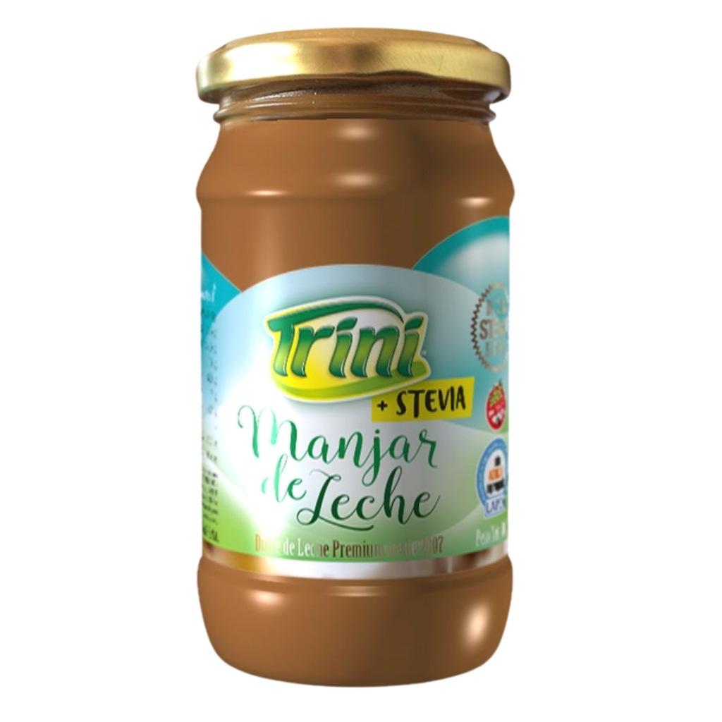Espectacular. Nada como el manjar de leche Trini, una formulación novedosa que genera un producto de características sensoriales y reológicas muy similares a la del dulce de leche; con la diferencia que no contiene agregado de azúcares. Nada de nada. Libre de gluten. Sin TACC. Date el gusto!