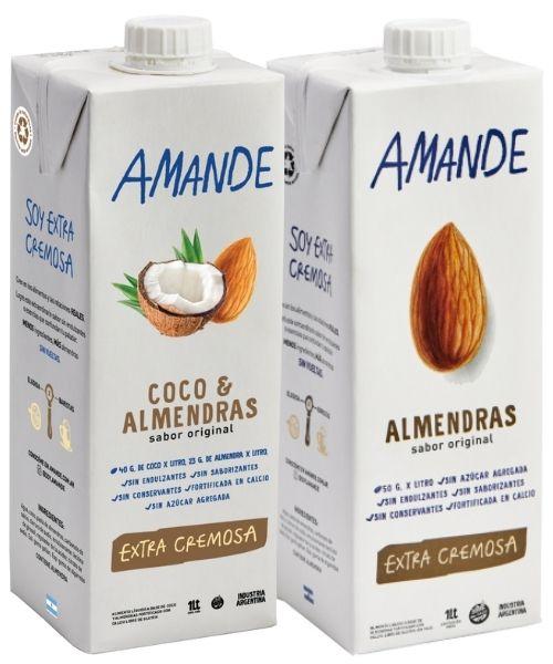 Amande es muy ricas, sabor un poco más intenso y espesa, extra cremosas. Son ideales para el café, para batir, para elaborar postres, smoothies y licuados.