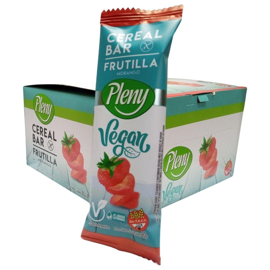 Riqusimas barras de cereales veganas. Desde siempre Pleny nos ofrece sabor y calidad con un precio muy accesible, ingredientes seleccionados y certificados libres de gluten.