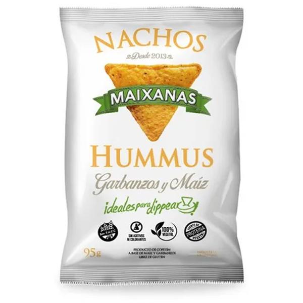 Riquísimos y super novedosos nachos elaborados a base de maíz orgánico y garbanzos, con un toque justo de sal marina, en aceite alto oleico que los hacen saludables. Ideales para dipear como más te guste.